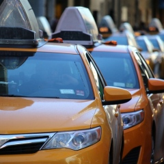 Urban City Transportation Cab Taxi Yellow Uber